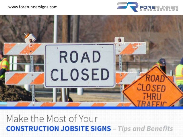 benefits of installing a jobsite business sign