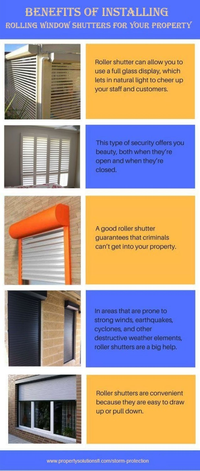 Benefits Of Installing Rolling Window Shutters For Your Property