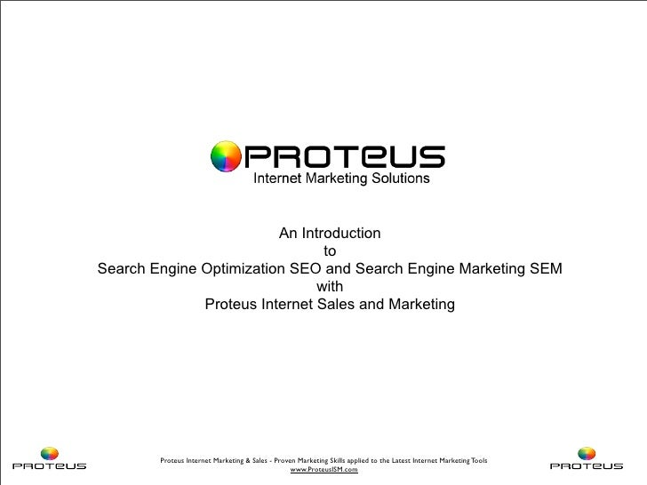 An Introduction                                 to Search Engine Optimization SEO and Search Engine Marketing SEM         ...