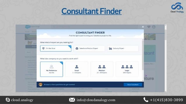 Consultant Finder cloud.analogy info@cloudanalogy.com +1(415)830-3899