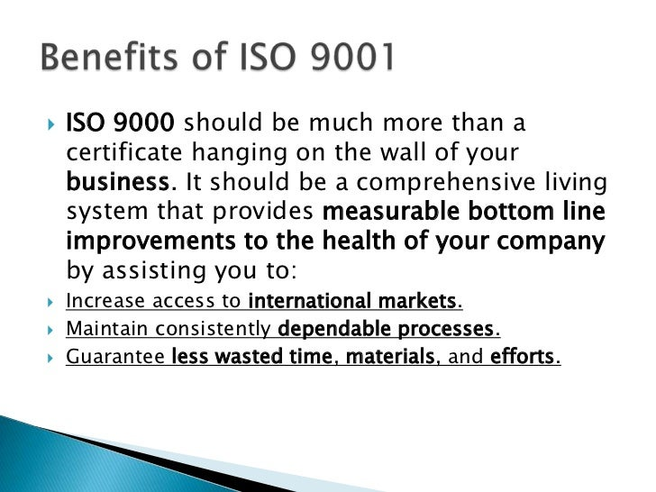 how tesco goes with iso 9000 Iso 9001 specifies the basic requirements for a quality management system that  an  iso 9004 can be used to go beyond iso 9001 to strengthen your.