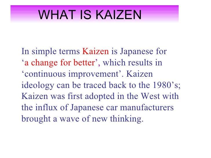 the benefits of kaizen and kaizen