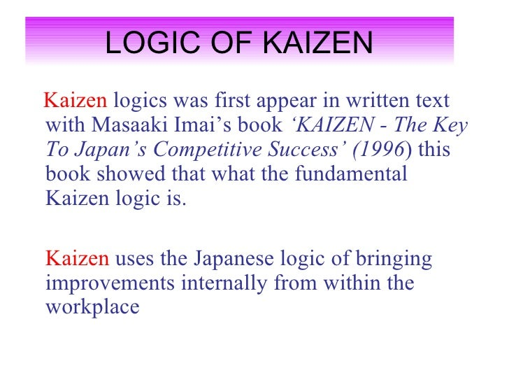Benefits of kaizen Slide 2