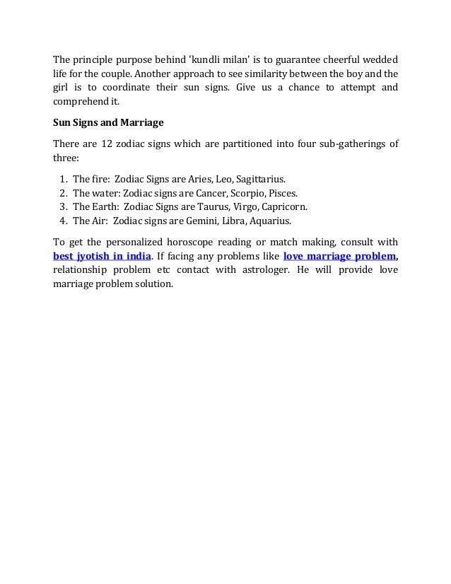 Benefits of kundali matching
