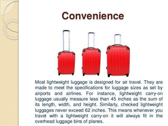 Benefits of Lightweight Travel Luggage