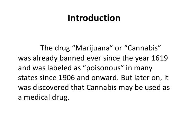 Thesis statement on not legalizing weed
