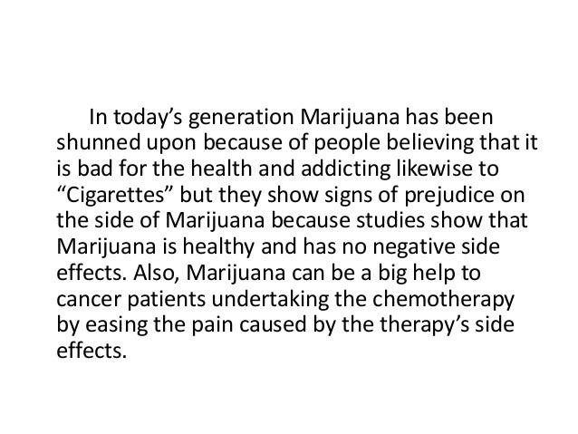 marijuana thesis statement examples