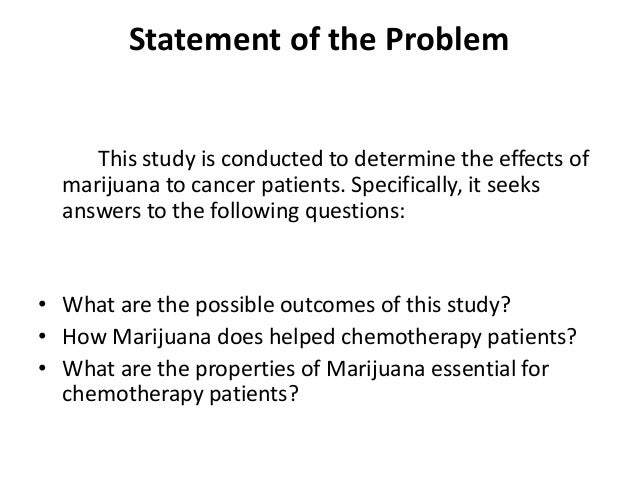 marijuana thesis statement