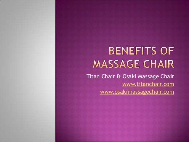 Titan Chair & Osaki Massage Chair www.titanchair.com www.osakimassagechair.com