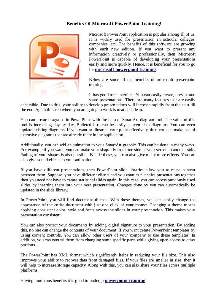 Benefits of microsoft powerpoint training toneelgroepblik Image collections