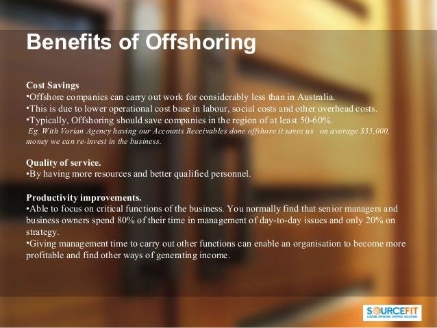 Offshoring benefits risks