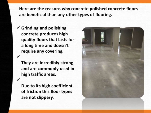 Benefits Of Polished Concrete Floors - Coefficient of friction flooring