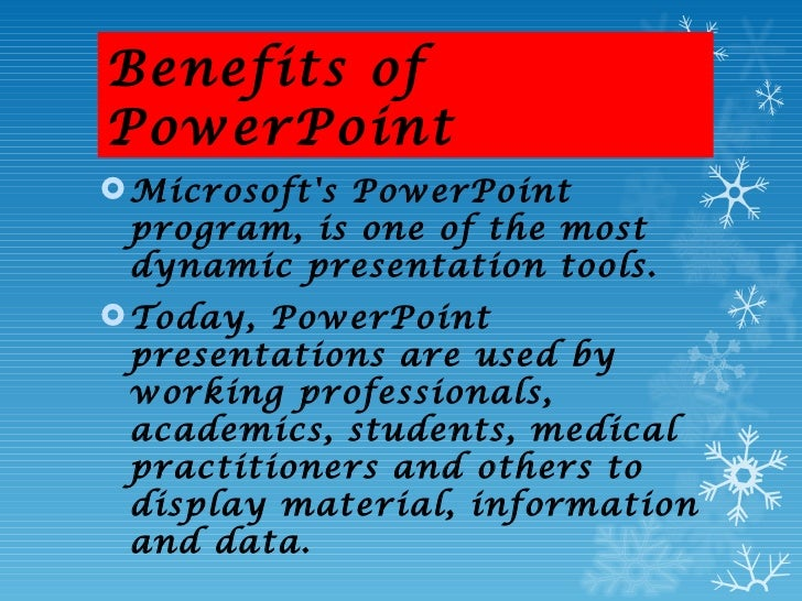 benefits of power point