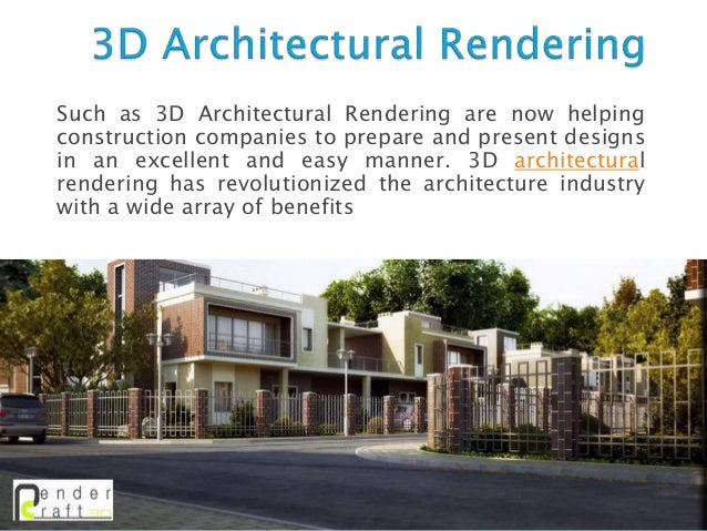 Charmant 2. Such As 3D Architectural Rendering Are Now Helping Construction Companies  ...