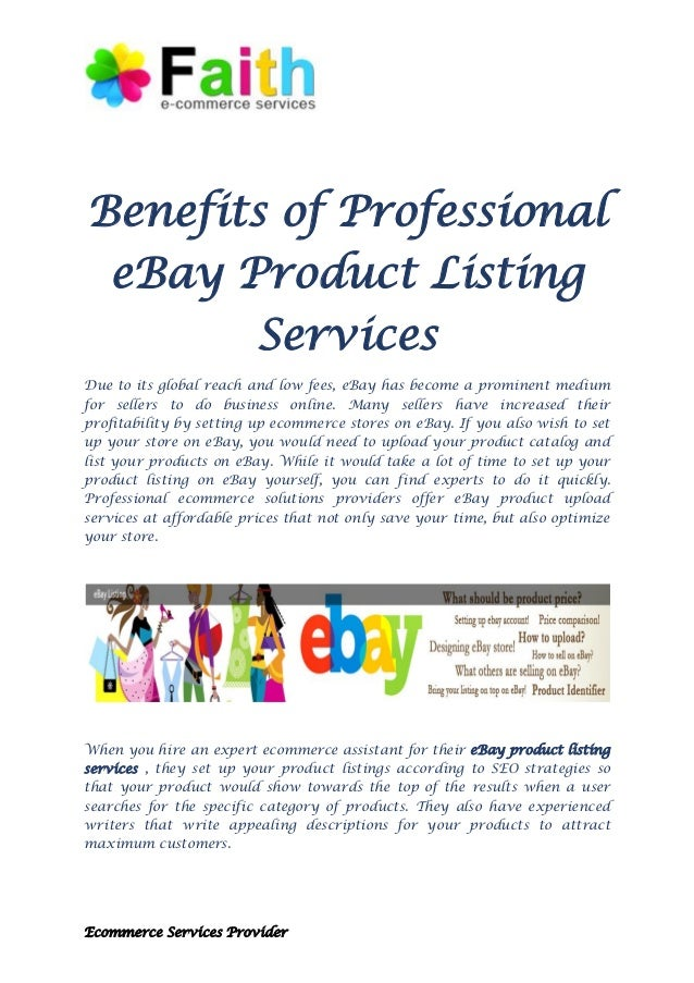 Benefits Of Professional Ebay Product Listing Services