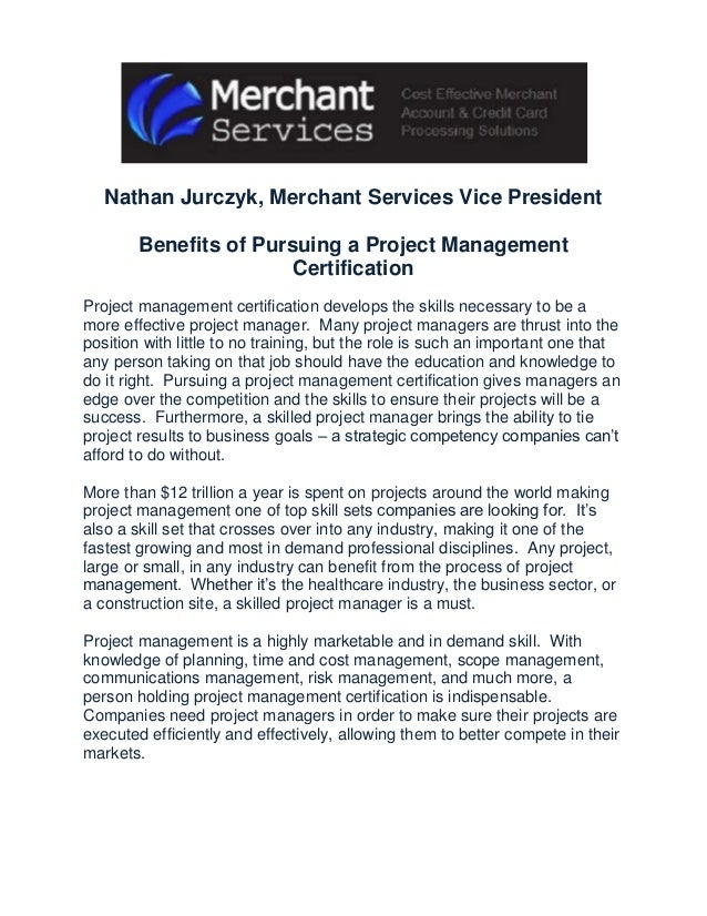 Benefits Of Pursuing A Project Management Certification Nathan Jurczy