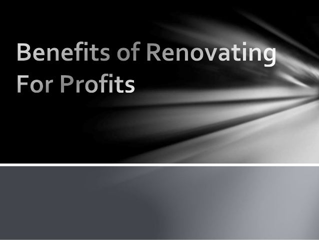 A lot of investors deal with renovations as a means of profiting on whatever they purchase. Instead of just flipping the s...