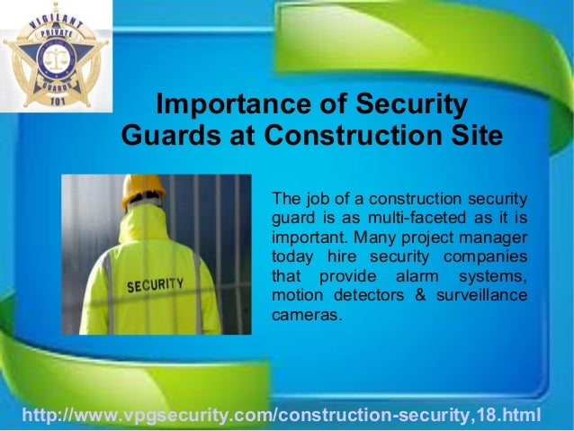 Benefits of Security Guards at Construction Sites – Security Site Manager Jobs