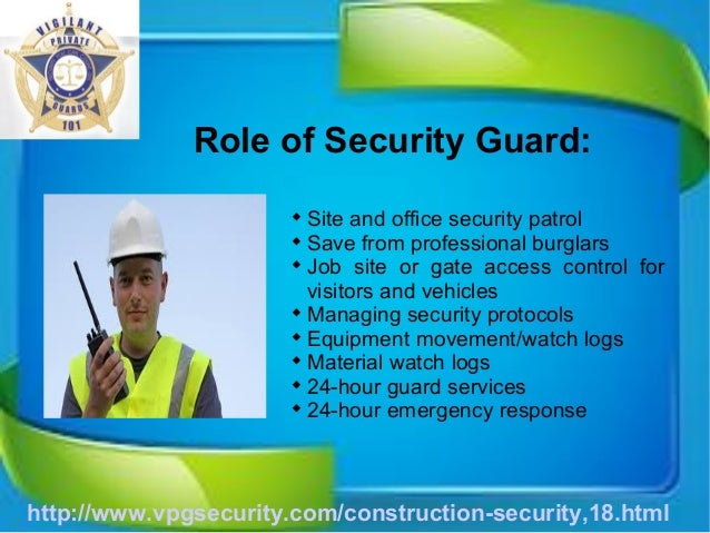 Security Guard Job Duties.Http: Www Security Guard Ca Security Gu
