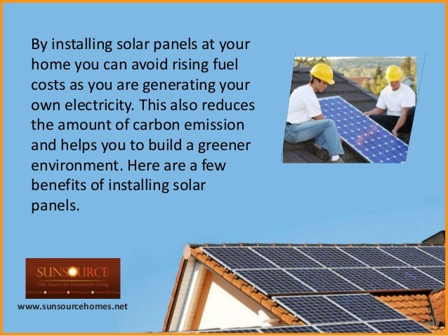 Benefits Of Solar Panels For Home