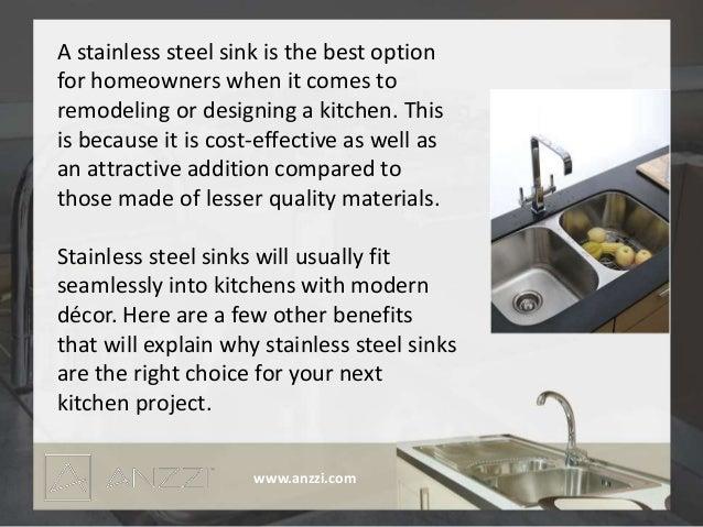 Benefits Of Stainless Steel Sinks. 1. Www.anzzi.com; 2.