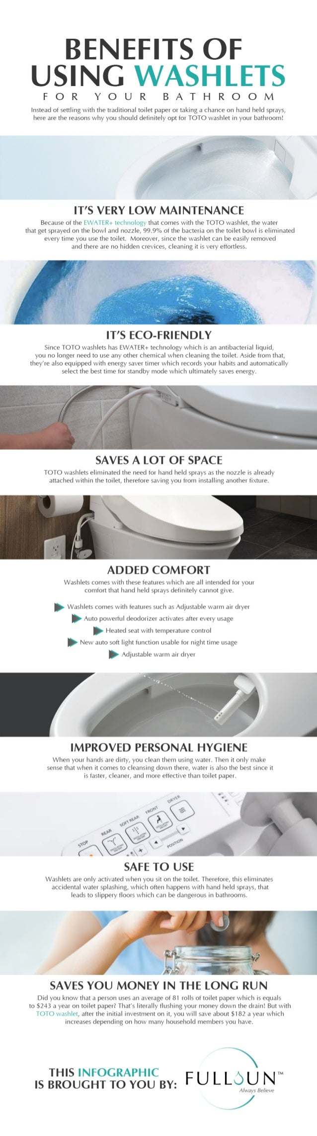 Benefits Of Using Washlets For Your Bathroom