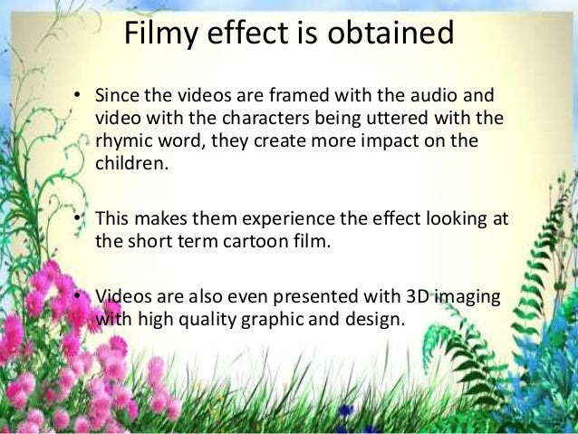 Benefits of video presentation rhymes