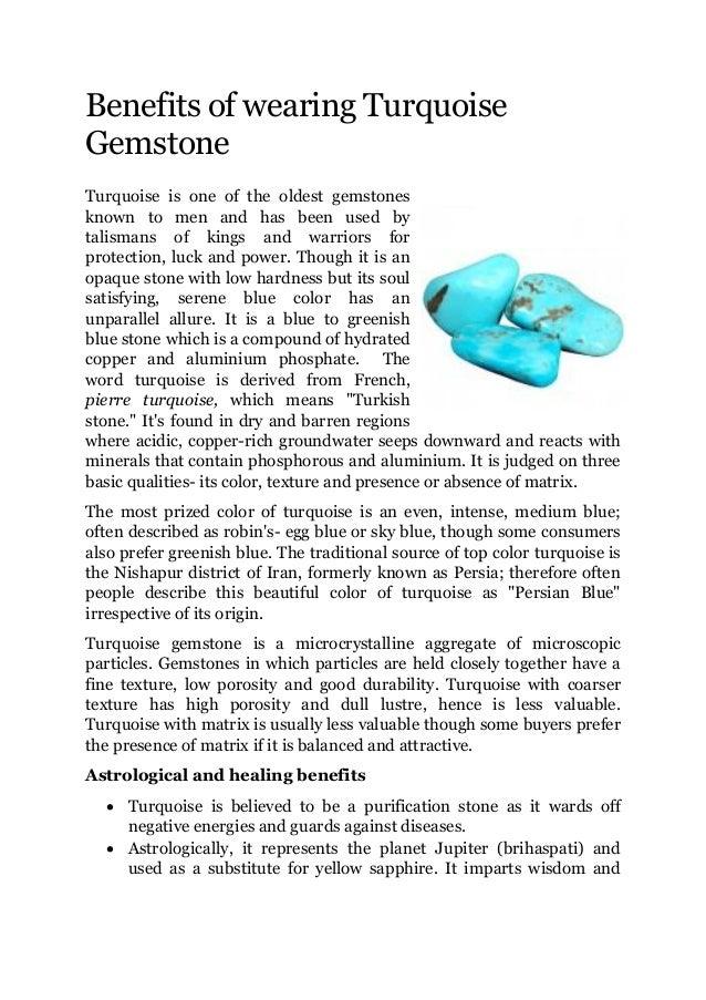 Benefits Of Wearing Turquoise Gemstone