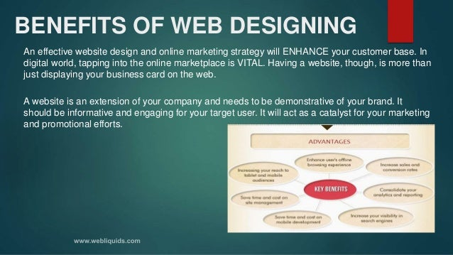BENEFITS OF WEB DESIGNING An effective website design and online marketing strategy will ENHANCE your customer base. In di...