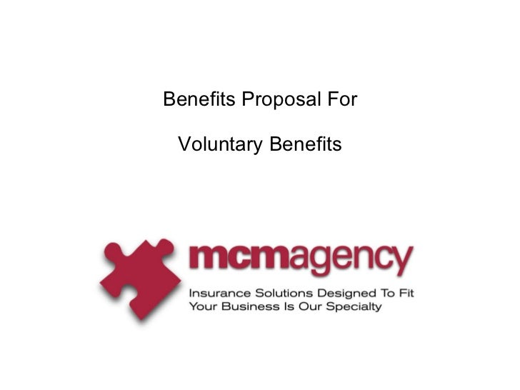 Benefits Proposal For Voluntary Benefits