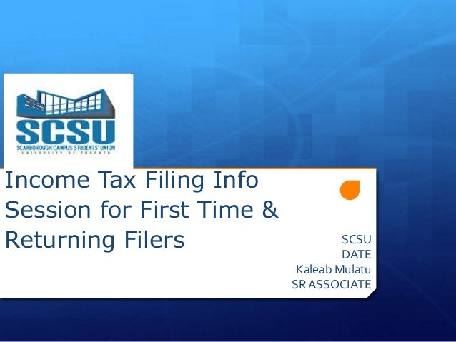 Income Tax Filing InfoSession for First Time &Returning Filers                    SCSU                                    ...