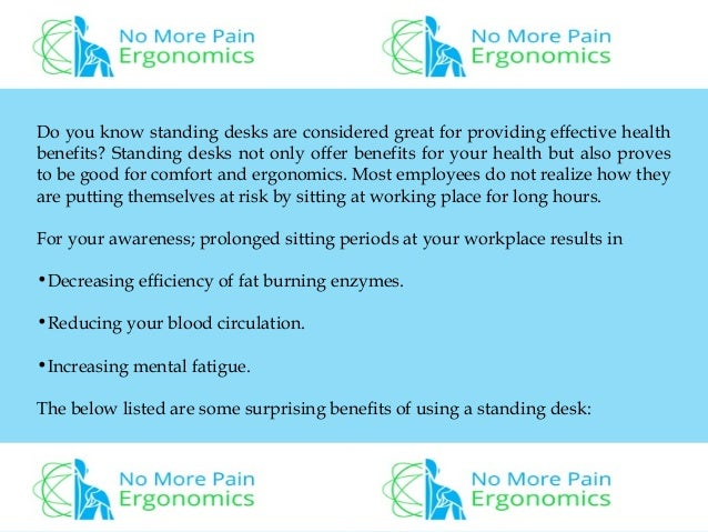 4 Great Benefits Of Using Standing Desk In Workspace; 2.