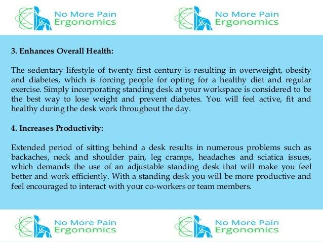 Benefits standing desk