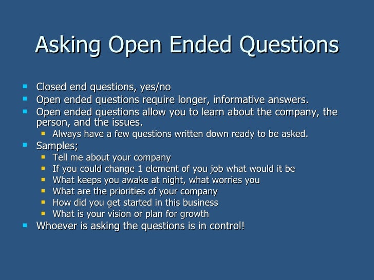Open ended questions for dating sites