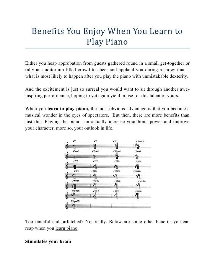 Benefits You Enjoy When You Learn to Play Piano<br />Either you heap approbation from guests gathered round in a small get...