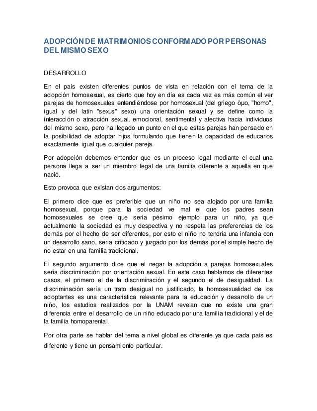Adopcion parejas homosexual pdf