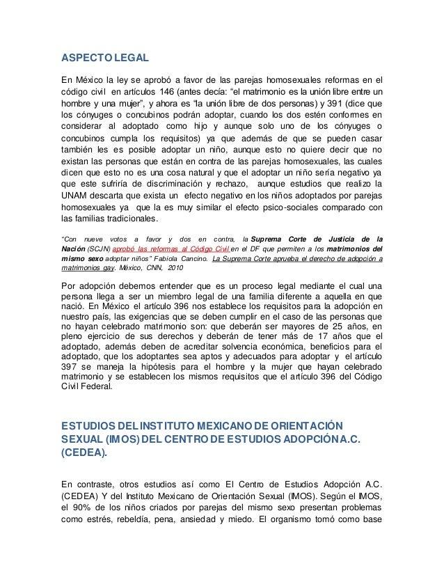 Matrimonio y adopcion homosexual pdf