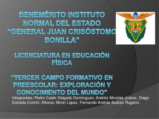 Integrantes: Pedro Caleb Delgado Domínguez, Andrés Morales Juárez, Diego Estrada Corichi, Alfonso Mirón López, Fernando An...