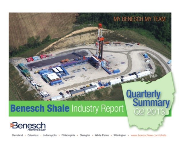 Contents 1. Top Issues and Considerations 3 2. Shale Industry Moves 4 3. Ohio Shale Infrastructure 5 4. Government 7 5. Sc...