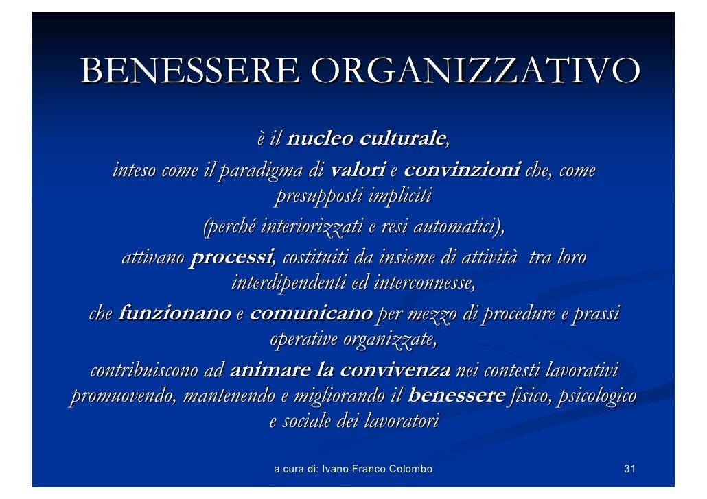 Benessere Organizzativo Slides