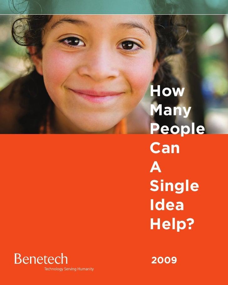 How Many People Can A Single Idea Help?  2009