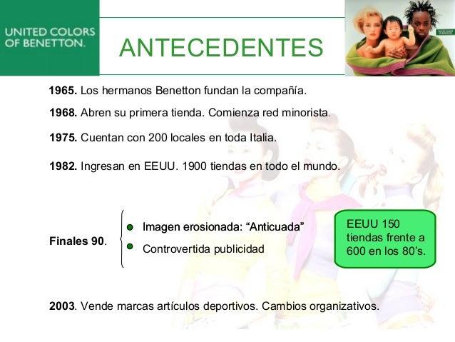 Benetton:nueva estrategia de Marketing Slide 3
