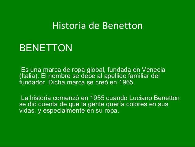 Campaña de Benetton Slide 2