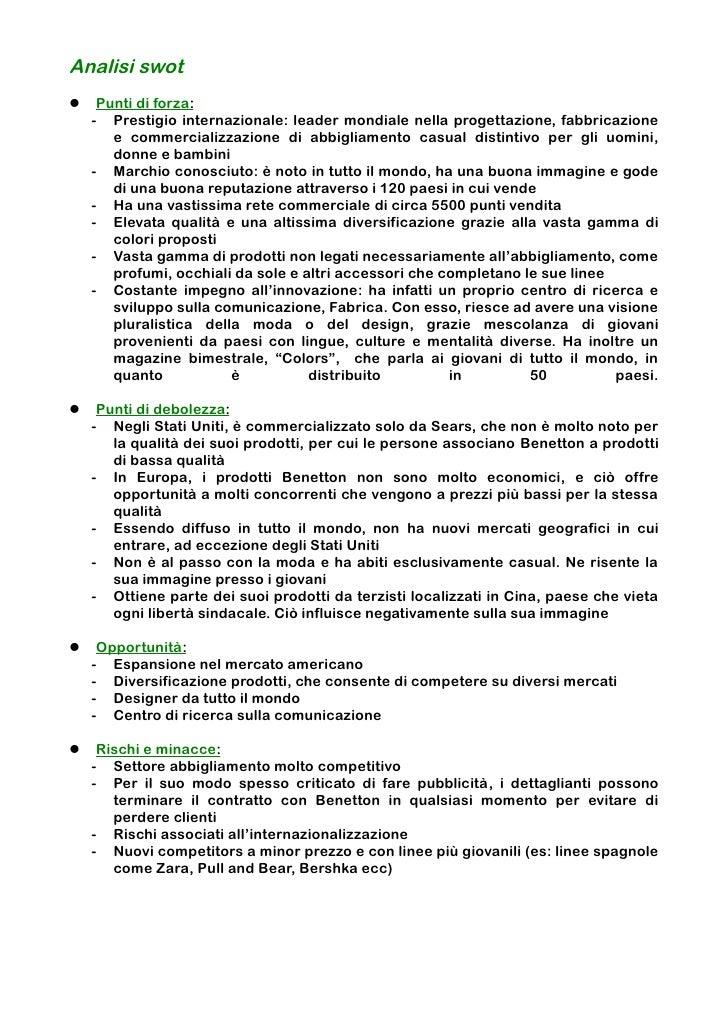 Pull And Bear Torino Centro.Benetton Piano Di Marketing