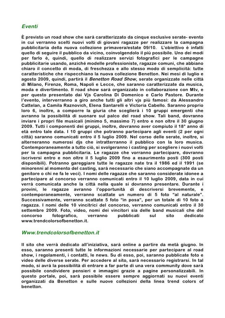 Benetton - Piano di Marketing