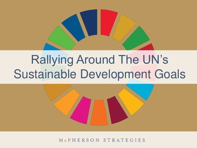 Rallying Around The UN's Sustainable Development Goals