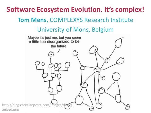 Software Ecosystem Evolution. It's complex! Tom Mens, COMPLEXYS Research Institute University of Mons, Belgium http://blog...
