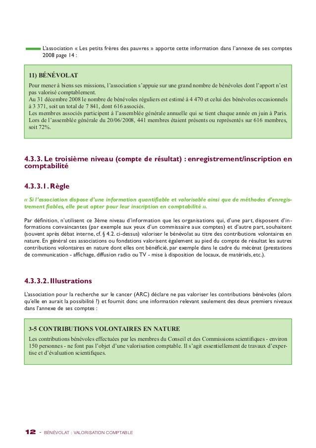L'association « Les petits frères des pauvres » apporte cette information dans l'annexe de ses comptes  2008 page 14 :  11...