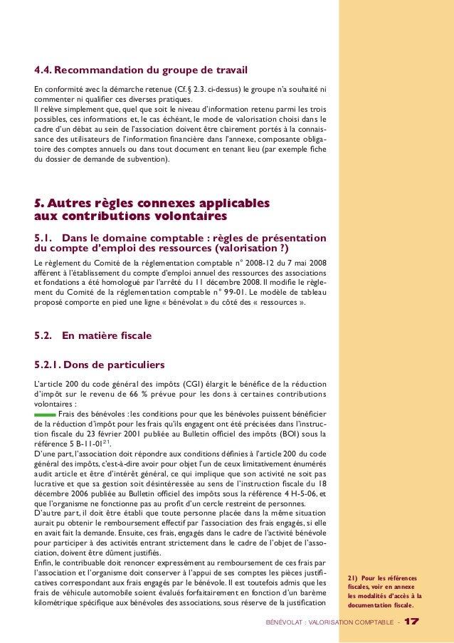 4.4. Recommandation du groupe de travail  En conformité avec la démarche retenue (Cf. § 2.3. ci-dessus) le groupe n'a souh...