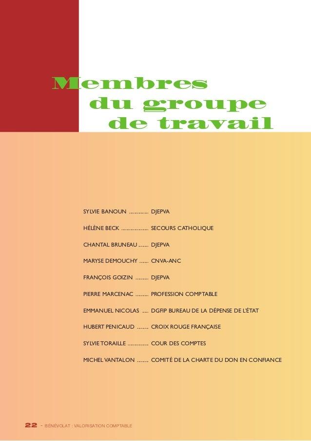 Membres  du groupe  de travail  Sylvie BANOUN ................ DJEPVA  Hélène BECK ...................... Secours Catholiq...